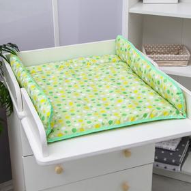 Матрасик на пеленальный комод, 75х67 см., зеленый МИКС