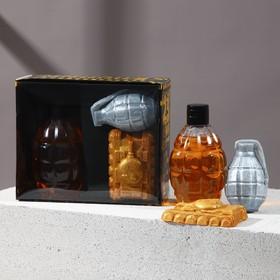 """Набор """"Крутому мужику"""" гель для душа граната 250 мл аромат мужского парфюма, мыло"""