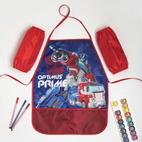 """Набор детский для творчества """"Optimus Prime"""" Трансформеры (фартук 49х39 см и нарукавники)"""