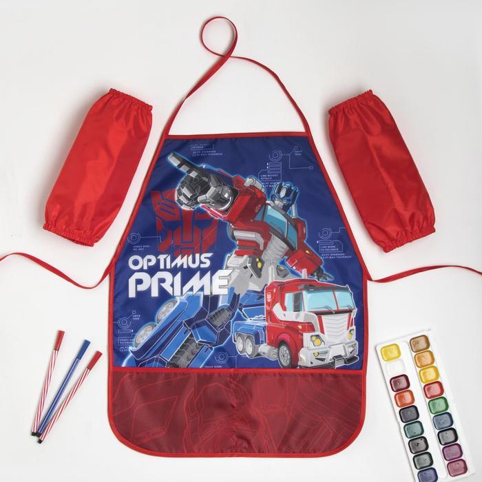 """Набор детский для творчества """"Optimus Prime"""" Трансформеры (фартук 49х39 см и нарукавники) - фото 7650905"""