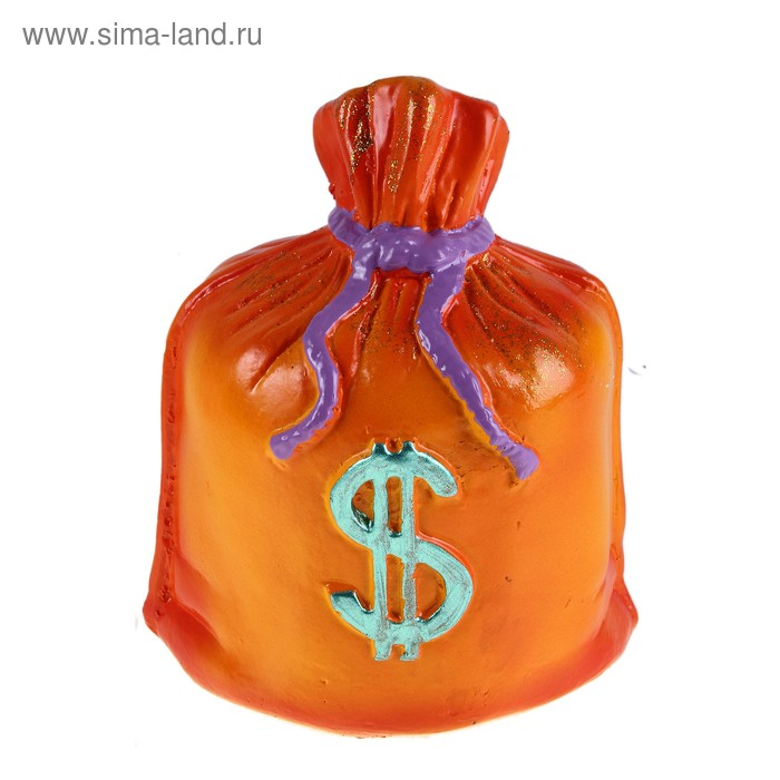 "Копилка ""Мешок: доллар"" оранжевая"