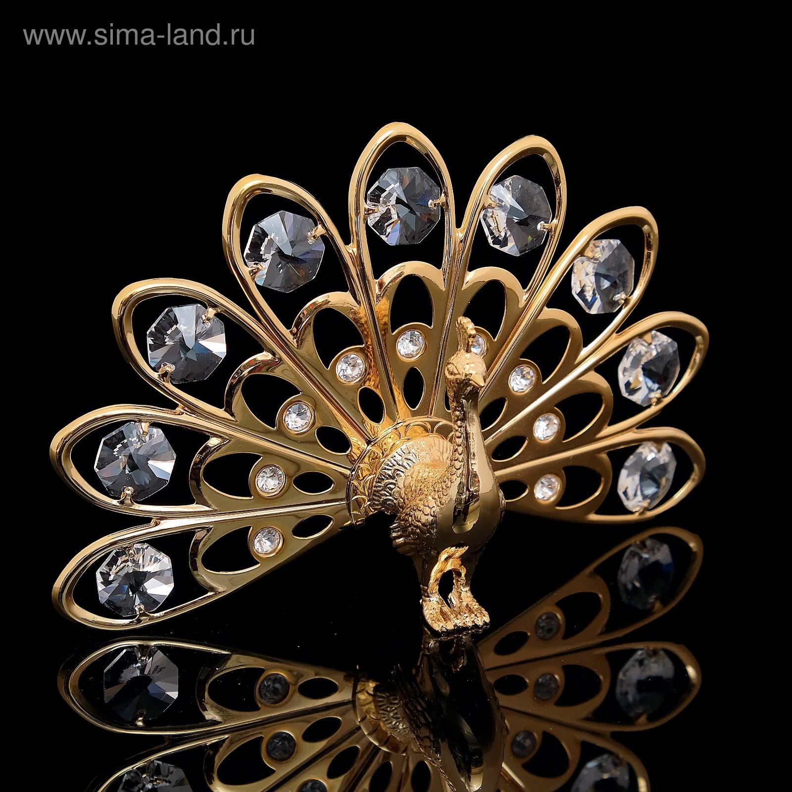 abda8fd52c54 Сувенир «Жар-птица», 13,5×3×9 см, с кристаллами Сваровски (692671 ...