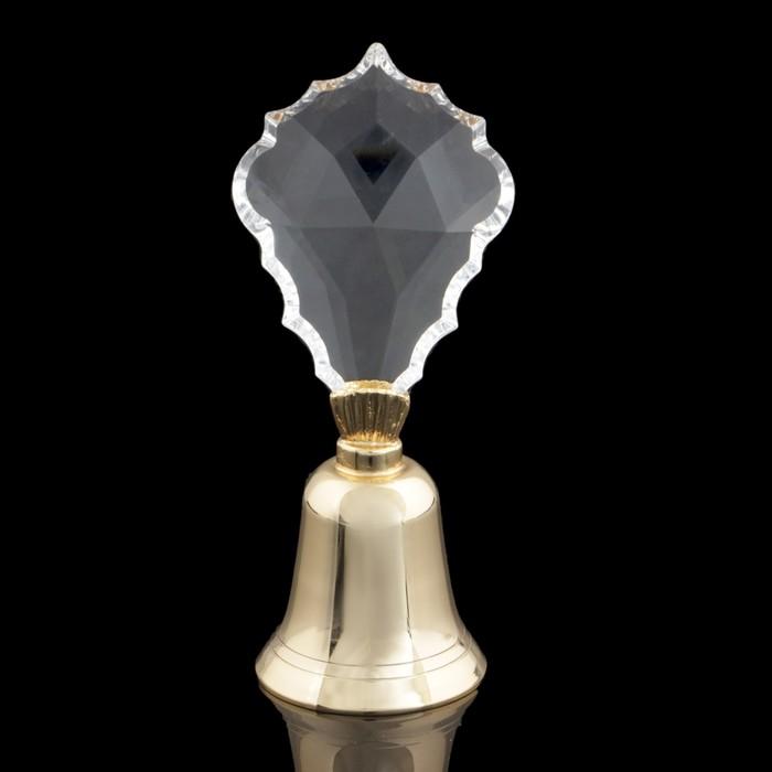 Сувенир «Колокольчик», с хрустальной ручкой Сваровски, 10 см