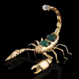 Сувенир «Скорпион», 9×7×6 см, с кристаллами Сваровски