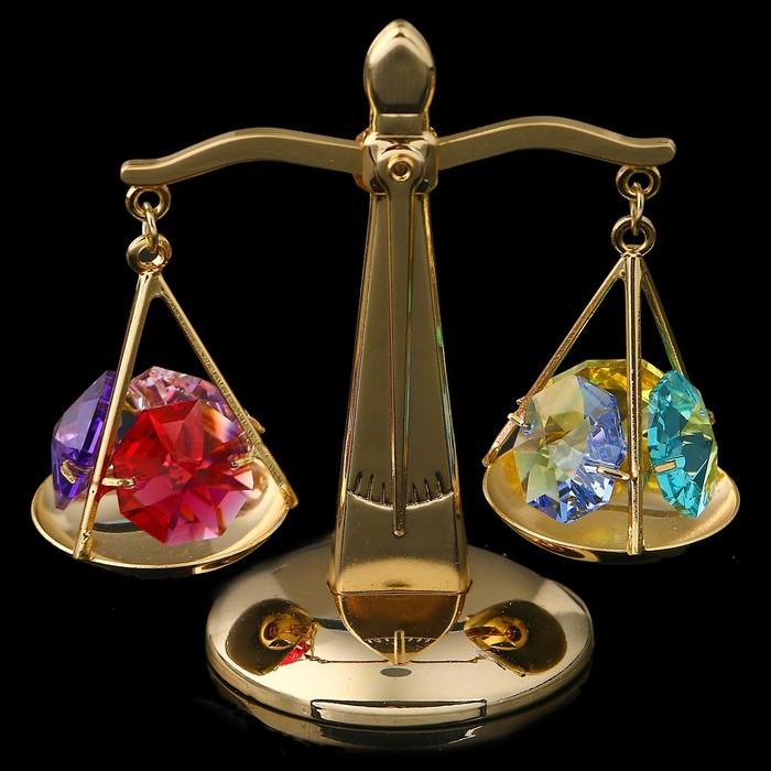 Сувенир «Весы», 7×4×7 см, с кристаллами Сваровски