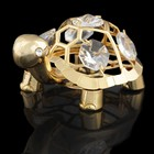 Сувенир «Черепаха», 6х5х4 см, с кристаллами Сваровски