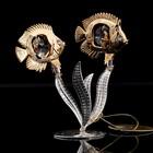 Сувенир «Две рыбки на серебряных водорослях», 9х5х9 см, с кристаллами Сваровски