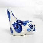 Сувенир «Синичка», малая, 4 см, гжель