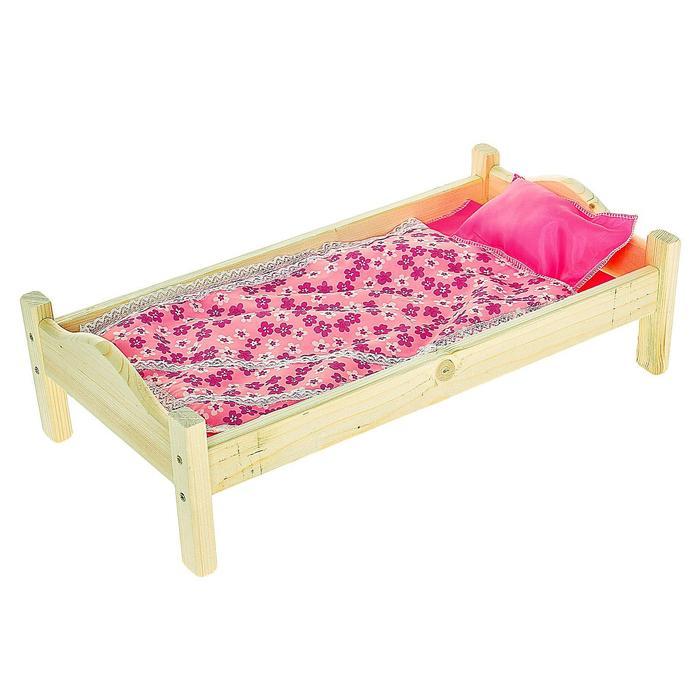 Кроватка кукольная 13, МИКС - фото 105964945