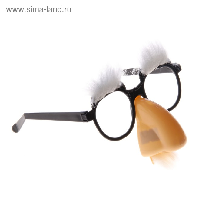 Карнавальные очки-маска брови большой нос 17*4*19
