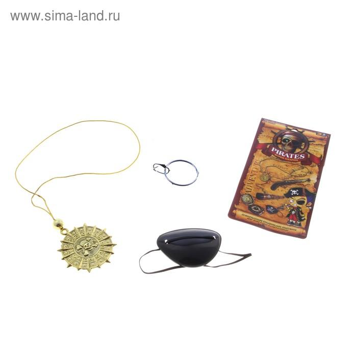Набор пирата: медальон и повязка на глаз