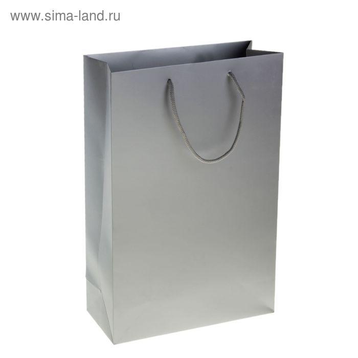 Пакет ламинированный 210гр, цвет серебро (УЦЕНКА)