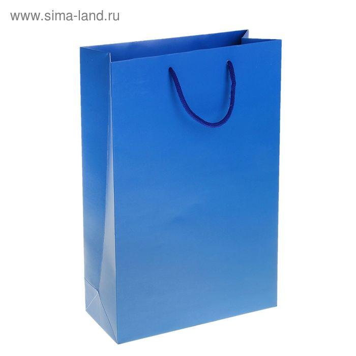 Пакет ламинированный 210гр, цвет синий (УЦЕНКА)