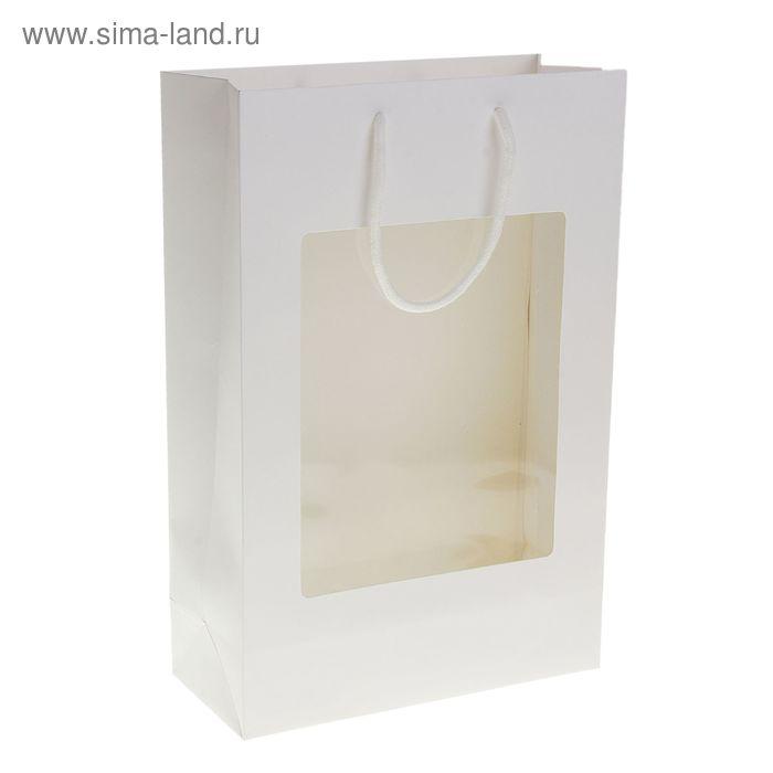 Пакет ламинированный 210гр, цвет белый