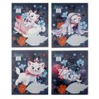 Тетрадь 12л клетка Marie Cat картонная обложка, выборочно УФ-лак МИКС