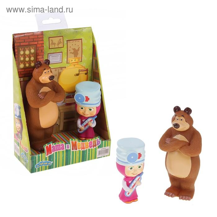 """Набор резиновых игрушек """"Маша-доктор с Мишкой"""""""