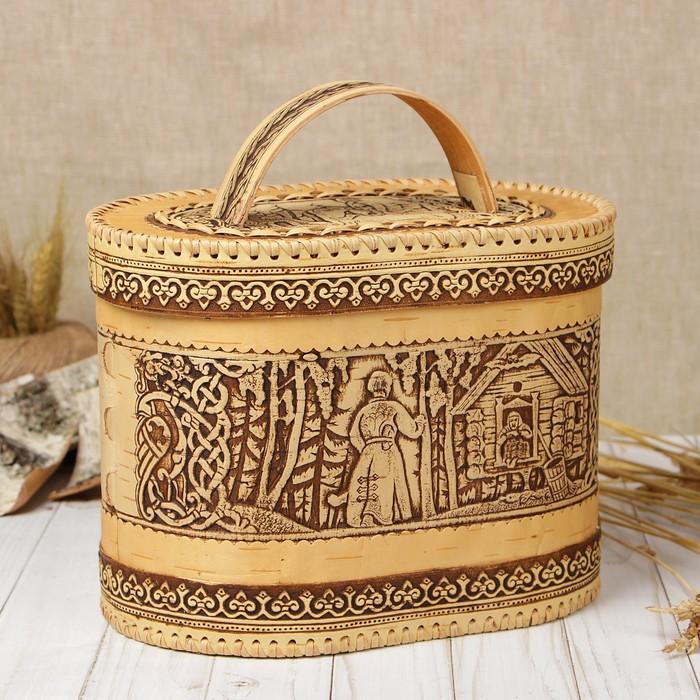 Хлебница «Сказка», 27×18×20 см, береста
