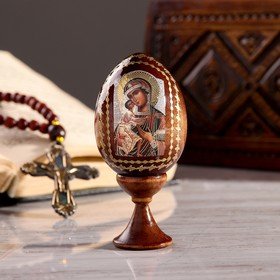 "Souvenir Egg stand on the icon ""mother of God "" quick to hearken"""""