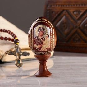 "Souvenir Egg stand on the icon ""the mother of God Tikhvin"""