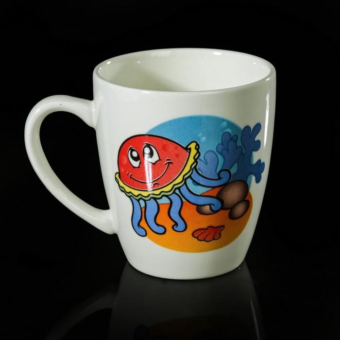 """Набор детской посуды """"Морской мир"""", 3 предмета: тарелка 17,5 см, миска 250 мл (17,5 см), кружка 260 мл, рисунок МИКС - фото 417699210"""