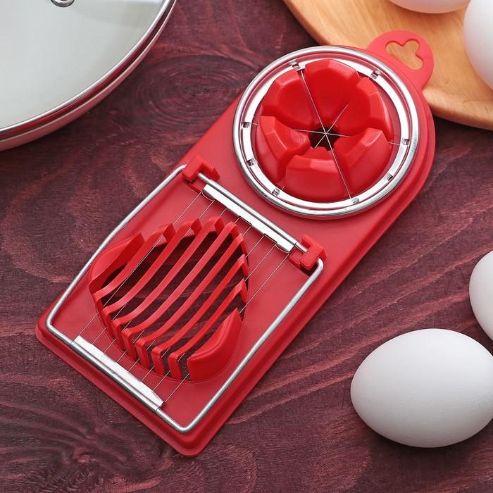 Яйцерезка с двумя видами нарезки, цвета МИКС