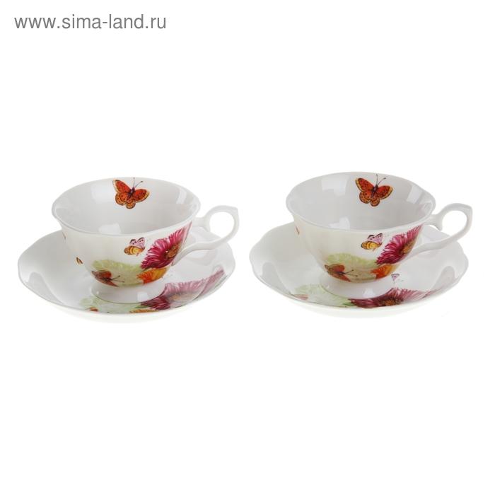 "Сервиз чайный ""Лето"", 4 предмета: 2 чашки 250 мл, 2 блюдца"
