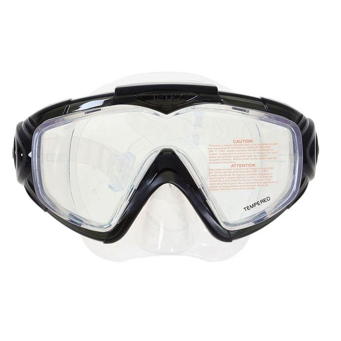 "Маска для плавания PRO ""Aква"", панорамный вид, закаленное стекло, от 14 лет, МИКС INTEX"