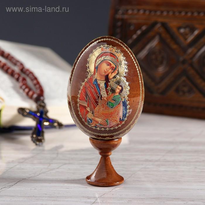 """Сувенир Яйцо на подставке икона """"Божья Матерь Утоли печали"""""""