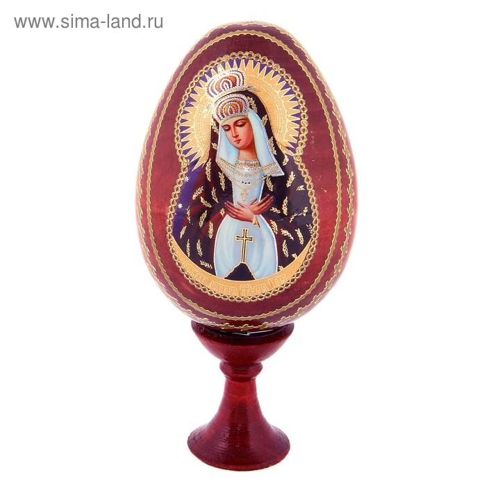 """Сувенир Яйцо на подставке икона """"Божья матерь Остробрамская"""""""
