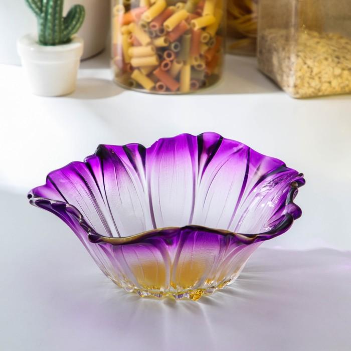 """Салатник 550 мл """"Фиолетовый цветок"""""""