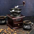 "Coffee grinder manual 10х10х16 cm ""Vasilisa"", colour dark wood"