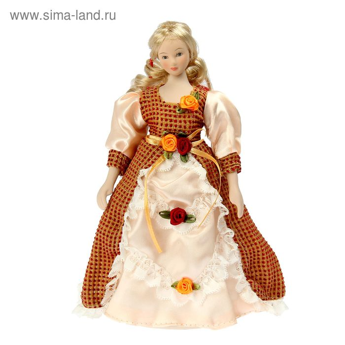 """Кукла коллекционная """"Виолетта в золотисто-кремовом"""""""