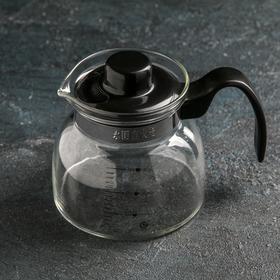 """Чайник заварочный 700 мл """"Чайные истории"""", термостойкое стекло, дно d=12 см"""