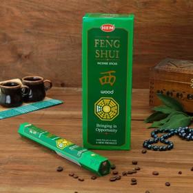 """Благовония """"HEM Feng Shui Wood"""" (Фэн Шуй Лес), шестигранник, 20 палочек"""