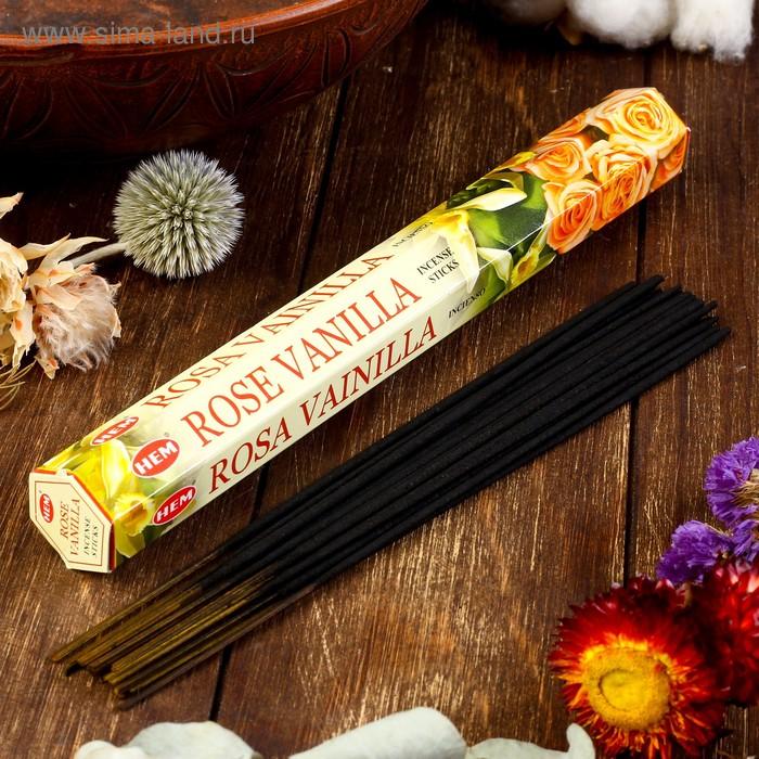 """Благовония """"HEM Vanilla-Rose"""" (Ваниль-роза), шестигранник, 20 палочек"""
