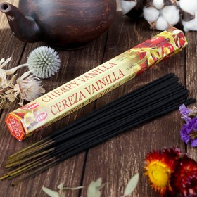 """Благовония """"HEM Cherry Vanilla"""" (Ванильная вишня), шестигранник, 20 палочек"""