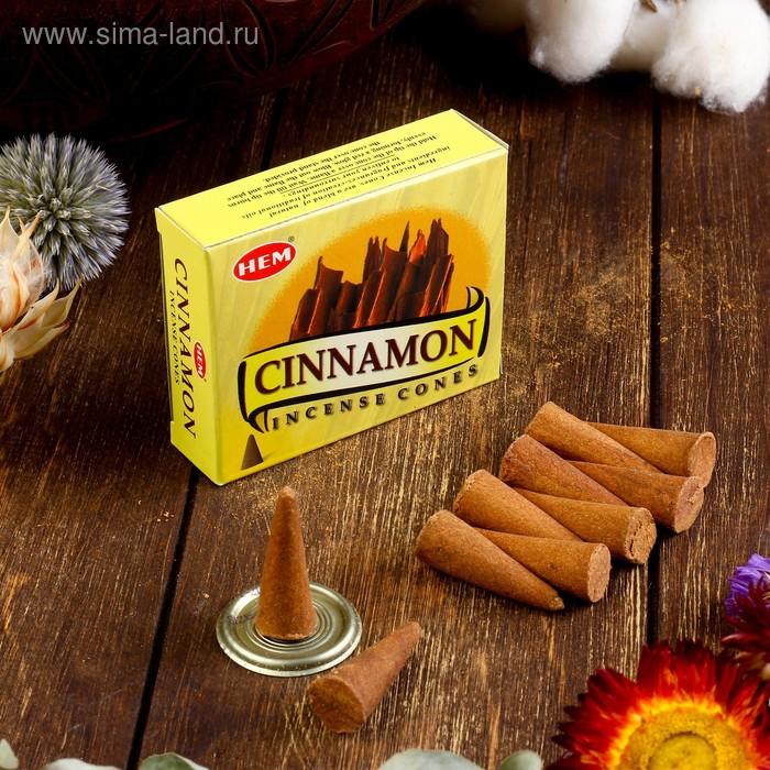"""Благовония """"HEM Cinnamon"""" (Корица), 10 конусов"""