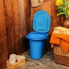 Ведро-туалет, 17 л, голубой
