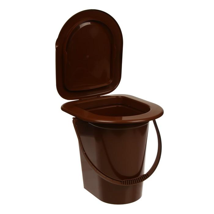 Ведро-туалет, 17 л, коричневый