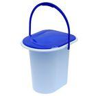 Ведро-туалет, 18 л, голубой