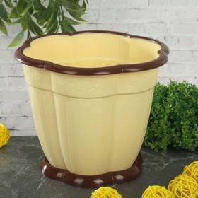 Горшок с поддоном «Восторг», 1,5 л, цвет светло-жёлтый
