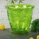 """Горшок для орхидей 1,5 л """"Соблазн"""", цвет зеленый"""