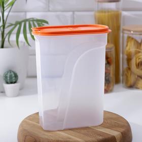 Емкость для сыпучих продуктов 2,4 л, цвета МИКС