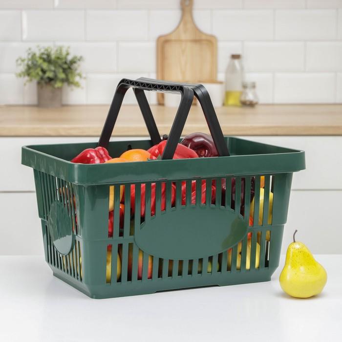 Корзина для покупок, цвет МИКС - фото 1707576
