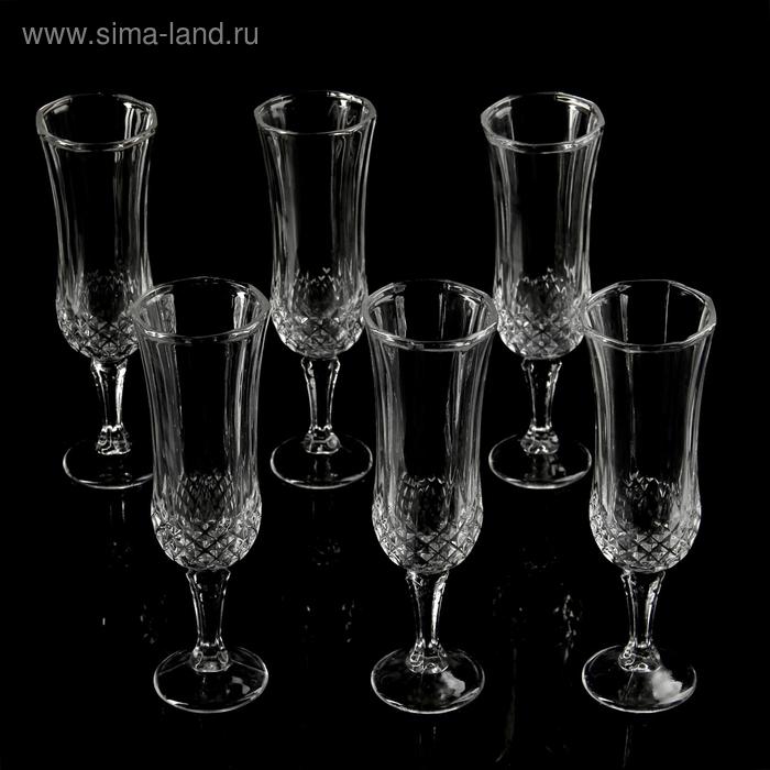"""Набор бокалов для шампанского 200 мл """"Венеция"""", 6х20 см, 6 шт"""