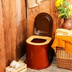 Туалет дачный, h = 39 см, без дна, с креплением к полу, цвет МИКС