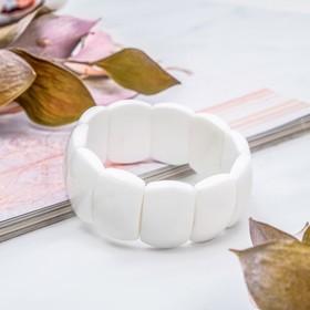 """Rectangle bracelet """"white agate"""""""