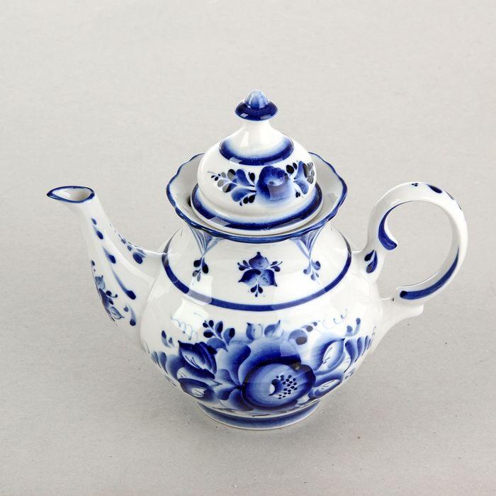 Чайник заварной «Бутон», 19х13х22 см, гжель