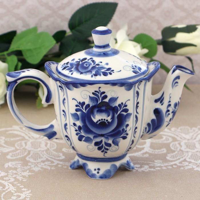 Чайник «Иринка», 21х13х18 см, гжель