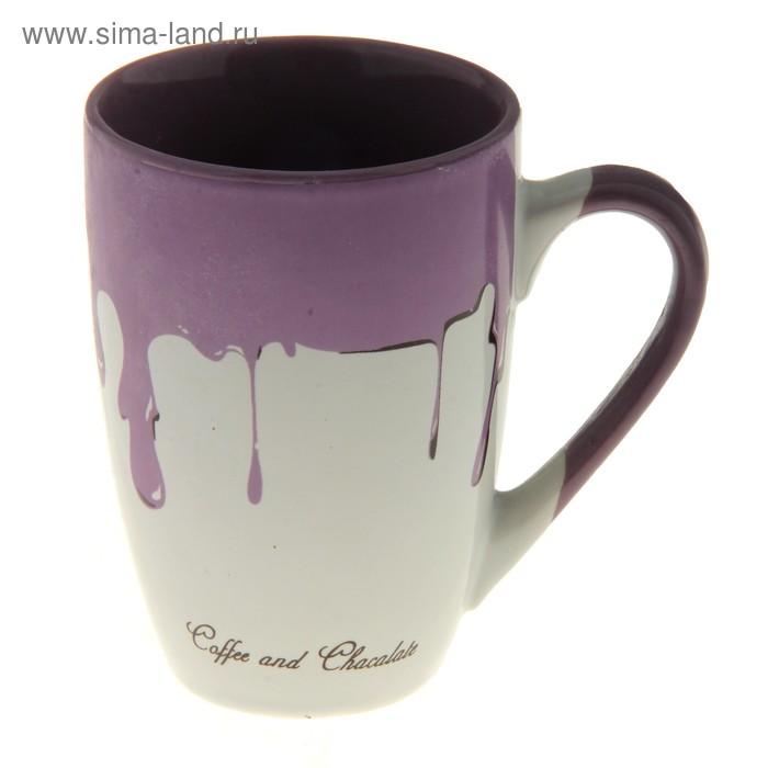 "Кружка 320 мл ""Капли"", фиолетовая"